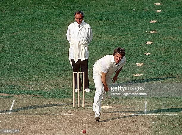Sequence of the bowling action of Ian Botham of England during the 1st Test match between England and India at Lord's Cricket Ground London 11th June...