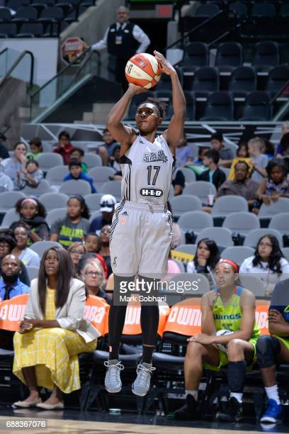 Sequoia Holmes of the San Antonio Stars shoots the ball against the Dallas Wings on May 25 2017 at the ATT Center in San Antonio Texas NOTE TO USER...