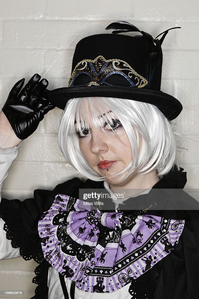 Sera Williams from North Wales in 'Kodona' fashion attends Hyper Japan at Earl's Court on November 24, 2012 in London, England. Hyper Japan is the UK's biggest Japanese culture event with many of the visitors dressing as cosplay, anime and manga characters.