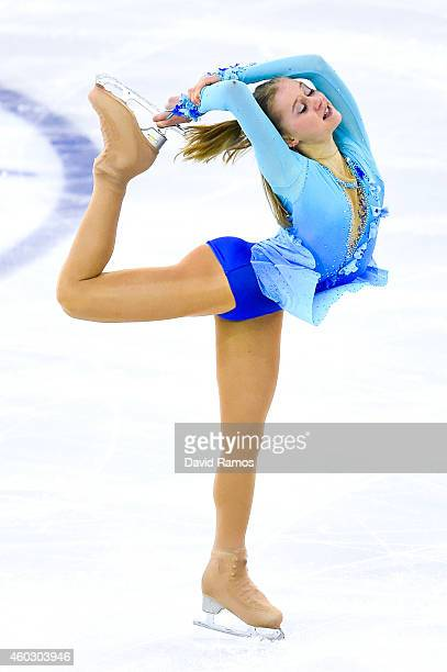 Serafima Sakhanovich of Russia performs during the Junior Ladies Short Program Final during day one of the ISU Grand Prix of Figure Skating Final...