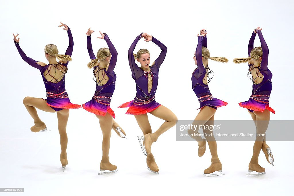 Serafima Sakhanovich of Russia performs during the Women's Free Skating on Day 3 of the ISU World Junior Figure Skating Championships at Tondiraba...
