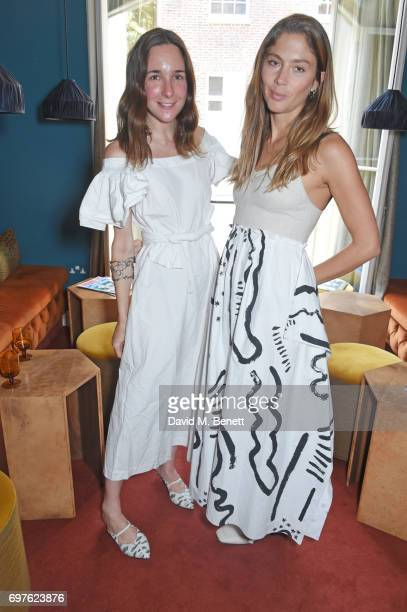 Serafina Sama and Quentin Jones attend the Isa Arfen x Alex Eagle lunch at The Chess Club on June 19 2017 in London England