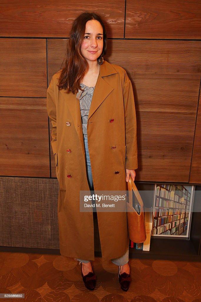 Serafina Sama attends the BFC Fashion Trust x Farfetch cocktail reception on April 28, 2016 in London, England.
