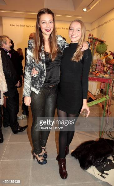 Seraphine Chapman and Agathe Chapman attend the patron's private view of 'Jake and Dinos Chapman Come and See' a new exhibition at The Serpentine...