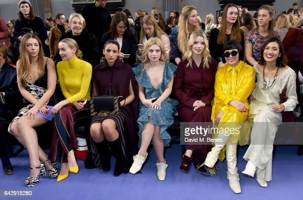 Seraphine Chapman De Lussy Agathe de Lussy Chapman Cora Corre Anais Gallagher Anya Taylor Joy Noomi Rapace and Hikari Yokoyama attend the Mulberry...