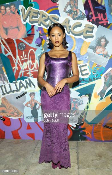 Serayah at Farfetch and William Vintage Celebrate Gianni Versace Archive hosted by Elizabeth Stewart and William BanksBlaney on October 5 2017 in Los...