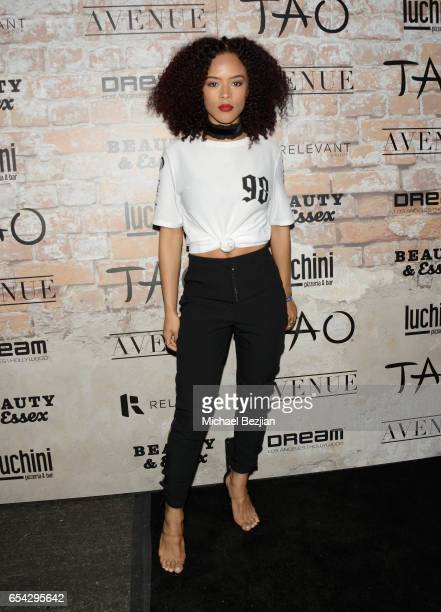 Serayah attends day one of TAO Beauty Essex Avenue Luchini LA Grand Opening on March 16 2017 in Los Angeles California