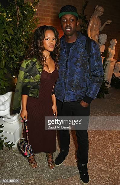 Serayah McNeill and Vas J Morgan attend the launch party hosted by Christopher Bailey and Jefferson Hack to celebrate the Burberry and Dazed cover...