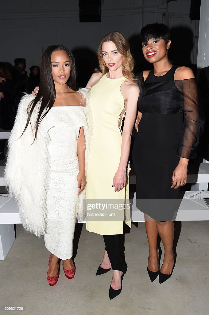 Serayah Mcneill, Jamie King, and <a gi-track='captionPersonalityLinkClicked' href=/galleries/search?phrase=Jennifer+Hudson&family=editorial&specificpeople=234833 ng-click='$event.stopPropagation()'>Jennifer Hudson</a> attend the Cushnie Et Ochs Fall 2016 fashion show during New York Fashion Week: The Shows at The Gallery, Skylight at Clarkson Sq on February 12, 2016 in New York City.