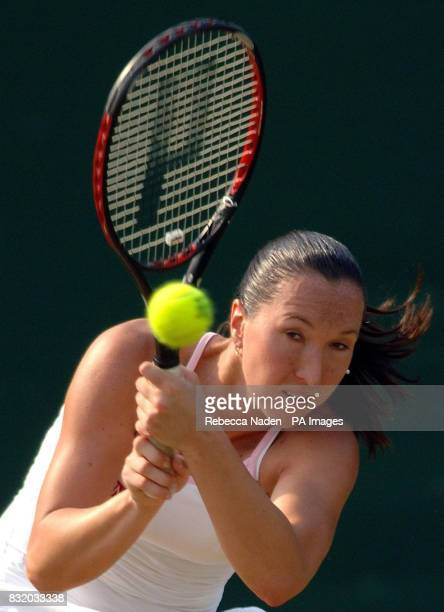 Serbia and Montenegro's Jelena Jankovic in action against USA's Venus Williams during the third round of The All England Lawn Tennis Championships at...