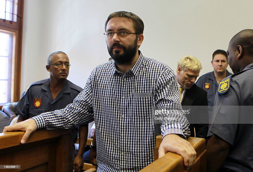 Serbian assassin Dobrosav Gavric appears at Cape Town Magistrates Court where proceedings for his extradition to Serbia will begin on February 6, 2012 in Cape Town, South Africa. Dobrosav Gavric was convicted of the murder of Serbian career criminal Zeljko 'Arkan' Raznatovic in 2008 and had fled Serbia to live under a new name in South Africa. His true identity was revealed during an investigation into the death of Cyril Beeka, a businessman in Cape Town who is thought to have been an underworld boss.