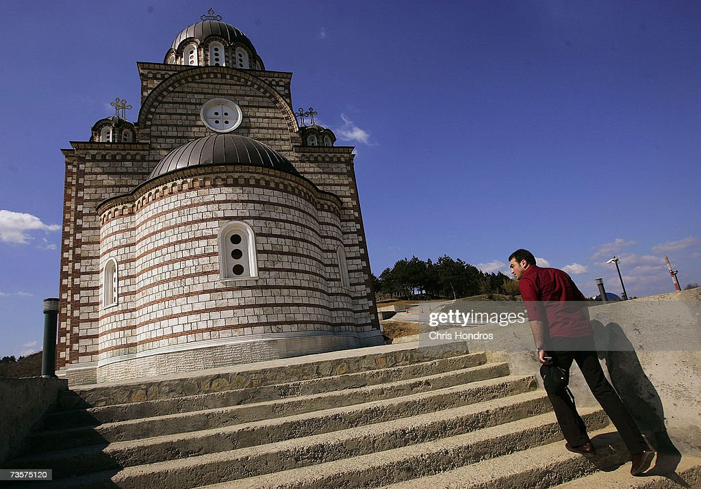 A Serbian man walks up the steps to the St. Dimitri Orthodox Church March 14, 2007 on the Serbian side of Mitrovica, Kosovo. Before 1999 Mitrovica was a town where Serbs and ethnic Albanians lived side-by-side. It is now is Kosovo's most glaring symbol of separation, as the two populations quickly separated themselves after the fall of the Serbian government in Kosovo and occupied opposite banks of the Ibar river.