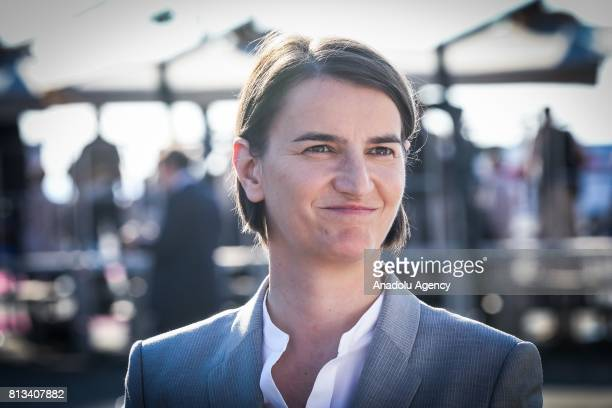 Serbian Prime Minister Ana Brnabic attends the Western Balkans Summit in Piazza Unita d'Italia in Trieste Italy on July 12 2017 Seven EU and six...