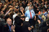 Serbian Radical Party leader Vojislav Seselj is seen after he reelected as the party leader in Belgrade Serbia on May 30 2015 Alleged war criminal...