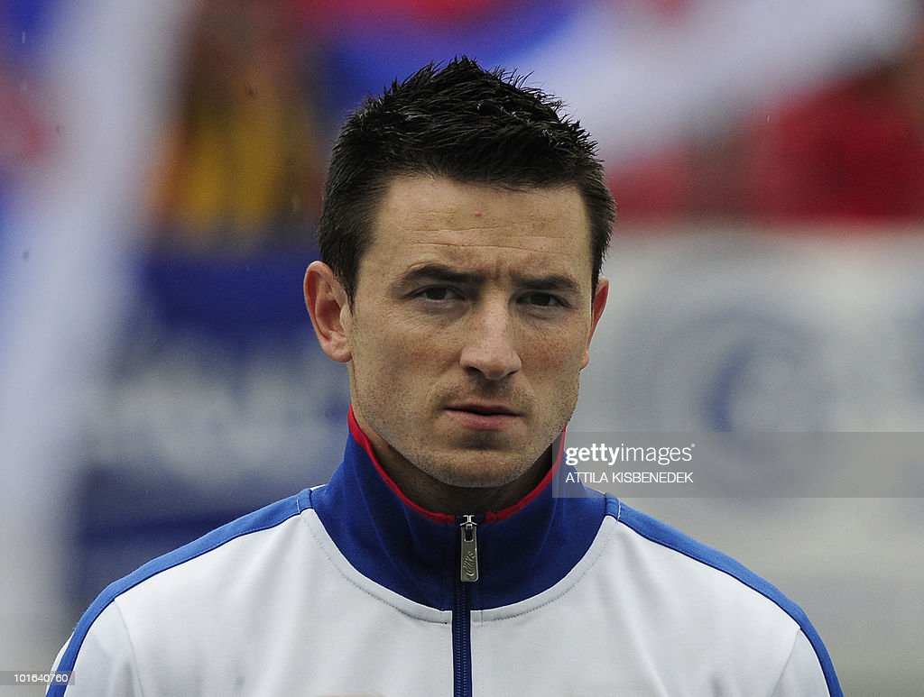 Serbia's Antonio Rukavina is pictured prior to their friendly match against New Zealand in the Hypo Arena Wörthersee Stadium of Klagenfurt on May 29, 2010 prior to the FIFA World Cup 2010 hosted by South Africa between June 11 and July 11. New Zealand won 1-0.