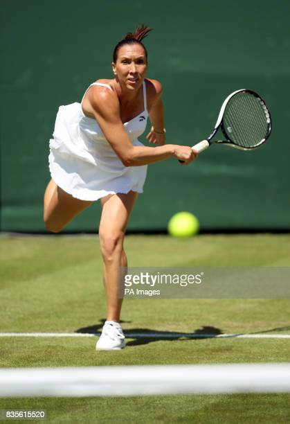 Serbia's Jelena Jankovic during the 2009 Wimbledon Championships at the All England Lawn Tennis and Croquet Club Wimbledon London