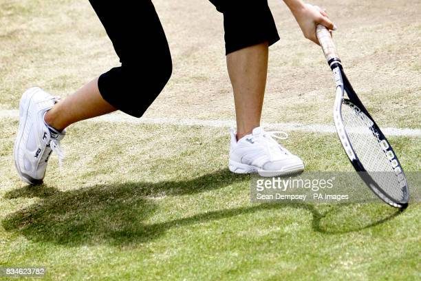Serbia's Jelena Jankovic on the Aorangie Practice courts during the Wimbledon Championships 2008 at the All England Tennis Club in Wimbledon