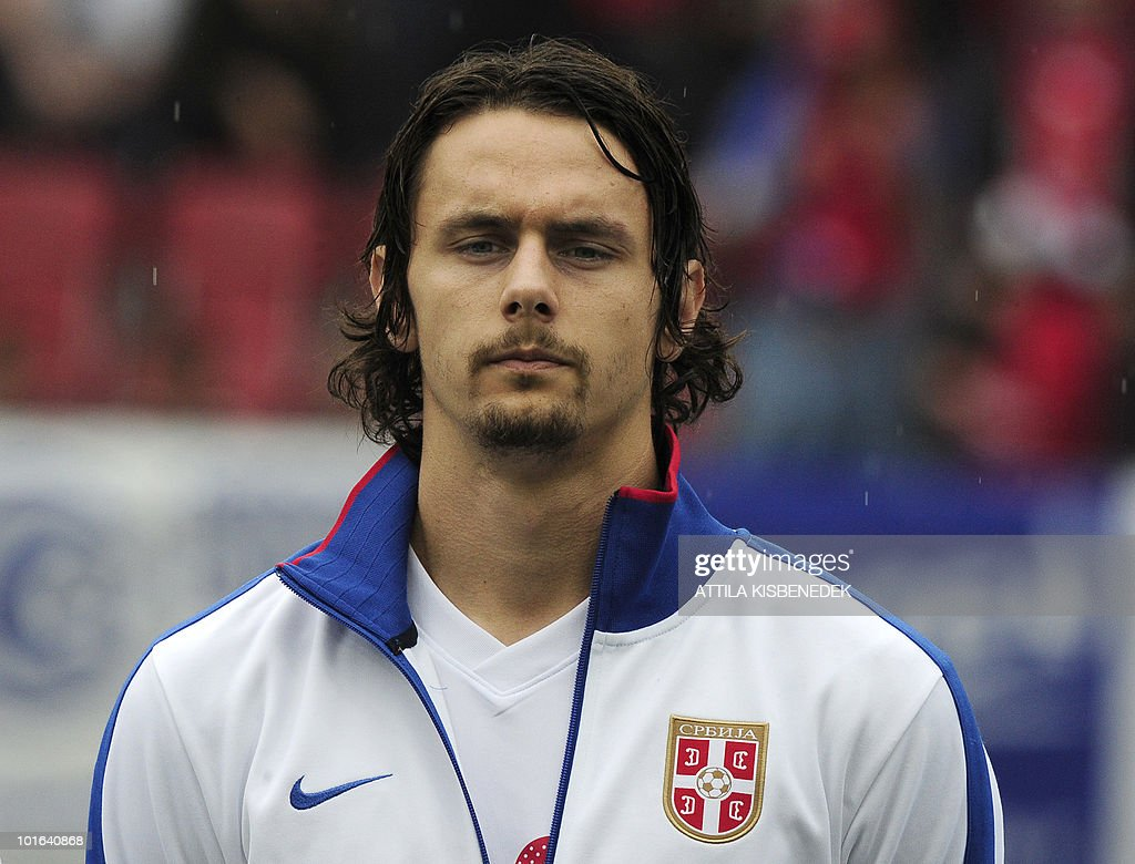 Serbia's Neven Subotic is pictured prior to their friendly match against New Zealand in the Hypo Arena Wörthersee Stadium of Klagenfurt on May 29, 2010 prior to the FIFA World Cup 2010 hosted by South Africa between June 11th till July 11th. New Zealand won 1-0.