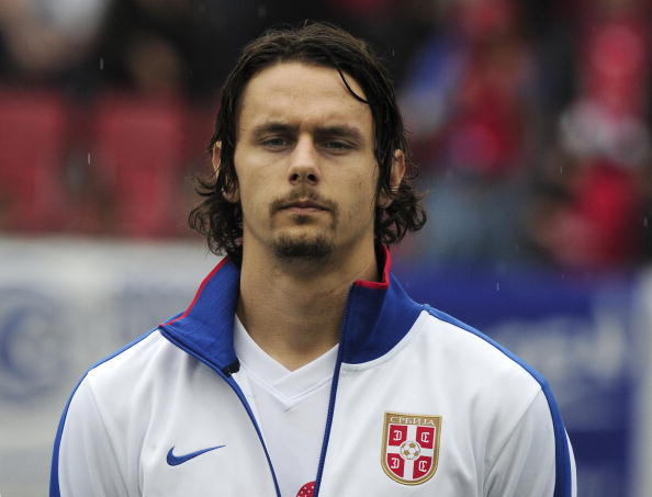 Serbia's Neven Subotic is pictured prior : News Photo