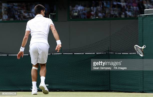 Serbia's Novak Djokovic during his match against Australia's Bernard Tomic during their quarterfinal match
