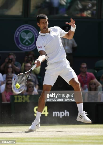 Serbia's Novak Djokovic in his Semi Final against Bulgaria's Grigor Dimitrov
