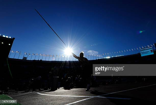 Serbia's Tatjana Jelaca competes in the women's javelin throw final at the 2012 European Athletics Championships at the Olympic Stadium in Helsinki...