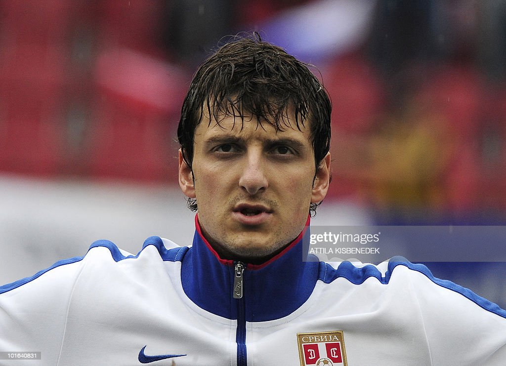 Serbia's Zdravko Kuzmanovic is pictured prior to their friendly match against New Zealand in the Hypo Arena Wörthersee Stadium of Klagenfurt on May 29, 2010 prior to the FIFA World Cup 2010 hosted by South Africa between June 11th till July 11th. New Zealand won 1-0.