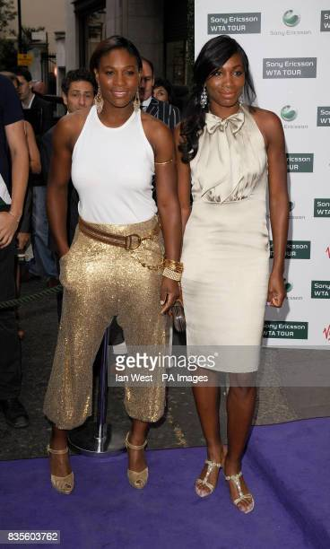 Serena and Venus Williams during the Ralph Lauren/Sony Ericsson WTA Tour preWimbledon Party at the Kensington Roof Gardens in London