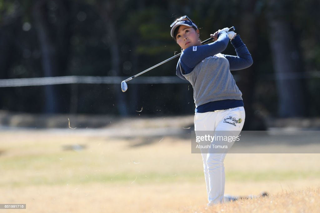 Serena Aoki of Japan hits her second shot on the 16th hole during the second round of the Yokohama Tire PRGR Ladies Cup at the Tosa Country Club on March 11, 2017, Konan, Japan.