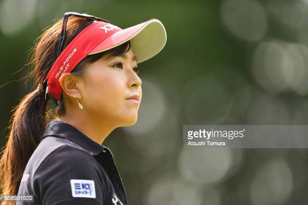 Serena Aoki of Japan looks on during the final round of Stanley Ladies Golf Tournament at the Tomei Country Club on October 8 2017 in Susono Shizuoka...