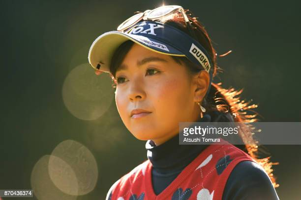 Serena Aoki of Japan looks on during the final round of the TOTO Japan Classics 2017 at the Taiheiyo Club Minori Course on November 5 2017 in Omitama...