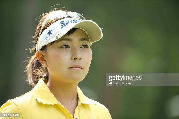 Serena Aoki of Japan looks on during the first round of the Daito Kentaku Eheyanet Ladies 2015 at the Narusawa Golf Club on July 31 2015 in Narusawa...