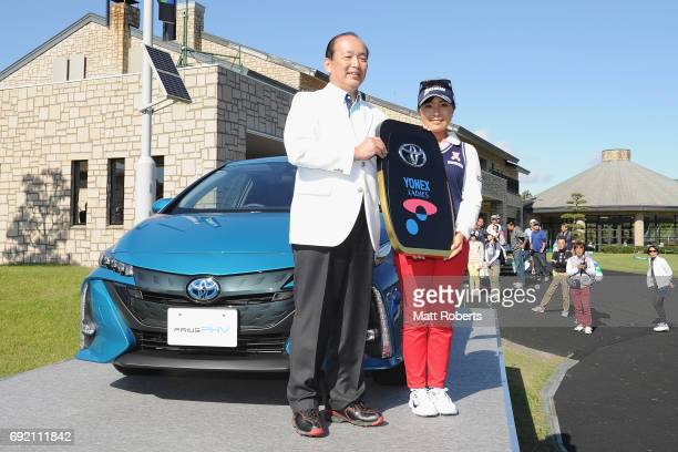 Serena Aoki of Japan poses for a photo during the final round of the Yonex Ladies Golf Tournament 2016 at the Yonex Country Club on June 4 2017 in...