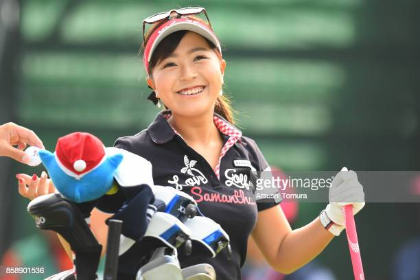 Serena Aoki of Japan smiles during the final round of Stanley Ladies Golf Tournament at the Tomei Country Club on October 8 2017 in Susono Shizuoka...