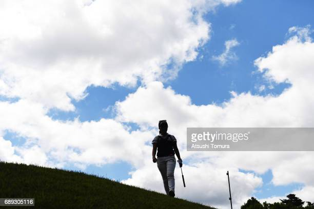 Serena Aoki of Japan walks to the 2nd hole during the final round of the Resorttrust Ladies at the Oakmont Golf Club on May 28 2017 in Yamazoe Japan