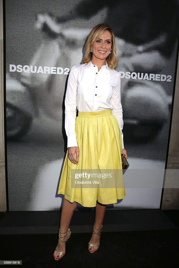 Serena Autieri attends Dsquared2 dinner party at Baja on May 30, 2016 in Rome, Italy.