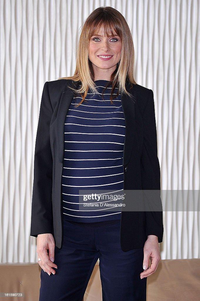 Serena Autieri attends 'Il Principe Abusivo' Photocall at Terrazza Martini on February 12, 2013 in Milan, Italy.