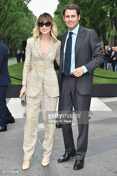 Serena Autieri attends the Giorgio Armani 40th Anniversary Silos Opening And Cocktail Reception on April 30 2015 in Milan Italy
