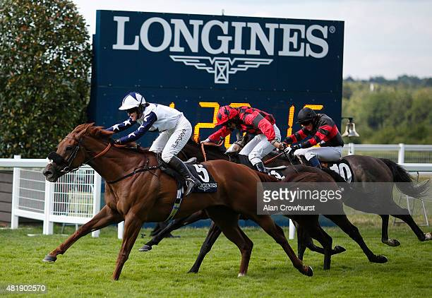 Serena Brotherton riding Peril win The Longines Handicap Stakes at Ascot racecourse on July 25 2015 in Ascot England
