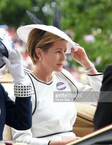 Serena Countess of Snowdon attends Ladies Day of Royal Ascot 2017 at Ascot Racecourse on June 22 2017 in Ascot England