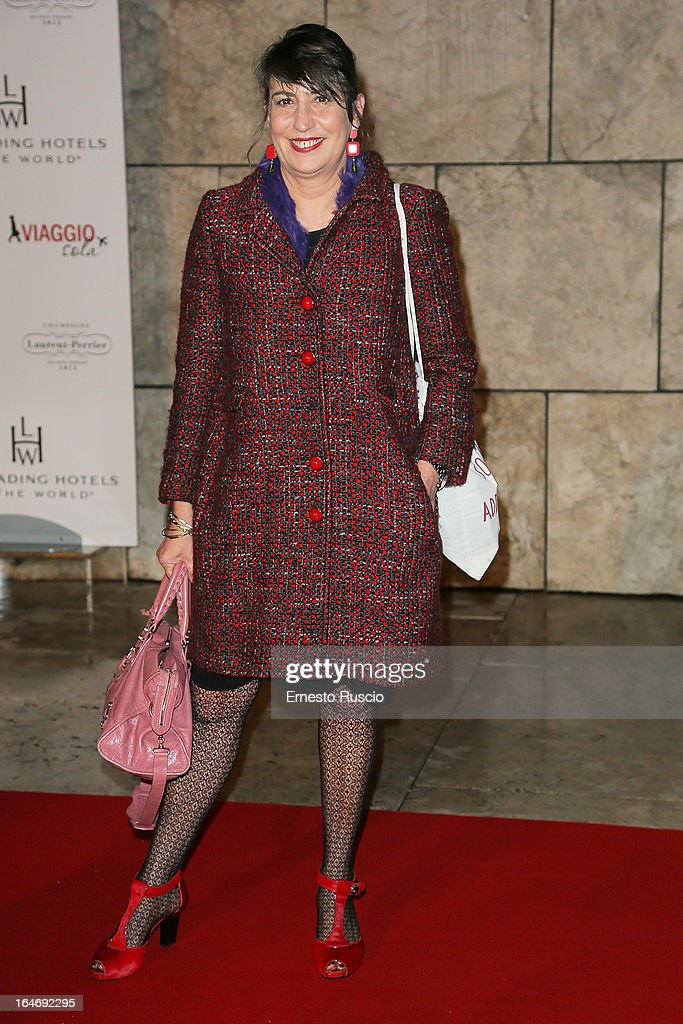 Serena Dandini attends the 'Viaggio Sola' premiere at Ara Pacis on March 26, 2013 in Rome, Italy.