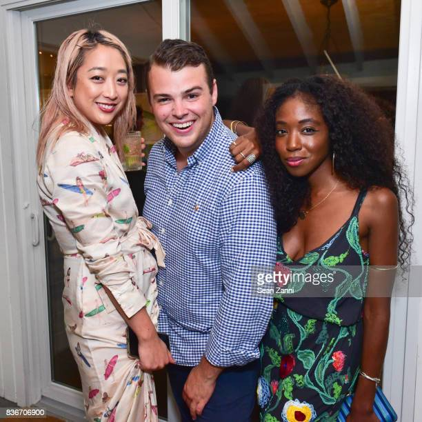 Serena Goh Zach Weiss and Guest attend The Daily Summer x PatBo Night in Brazil Dinner at Private Residence on August 18 2017 in East Hampton NY