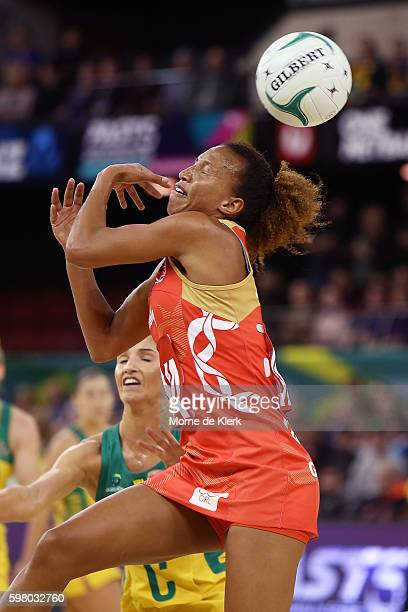 Serena Guthrie of the Roses misses the ball during the International Test match between the Australian Diamonds and England at Adelaide Entertainment...