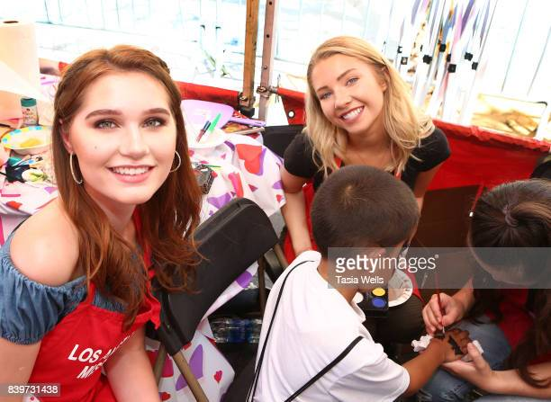 Serena Laurel and Elise Luthman at the Los Angeles Mission's End of Summer Arts and Education Fair at Los Angeles Mission on August 26 2017 in Los...