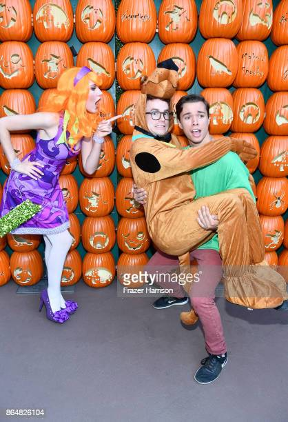 Serena Laurel Justin Tinucci and Colton Shires at the Dream Halloween 2017 Costume Party Benefitting Starlight Children's Foundation presented by...
