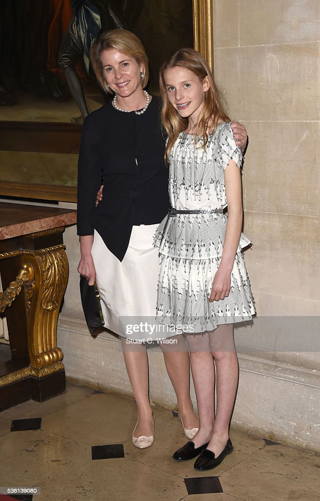 Serena Linley and Margariat Armstrong-Jones arrive for the Christian Dior showcase of its spring summer 2017 Cruise collection at Blenheim Palace on May 31, 2016 in Woodstock, England.