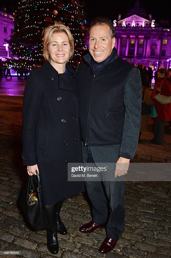Serena Linley (L) and Viscount David Linley attend the opening party of Skate at Somerset House with Fortnum & Mason at Somerset House on November 10, 2014 in London, England. The stylish ice rink opens to the public on Tuesday 11th November and runs until Sunday 11th January 2015.