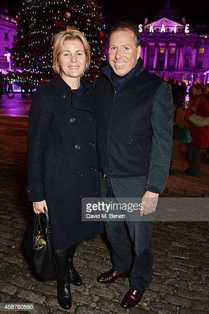 Serena Linley and Viscount David Linley attend the opening party of Skate at Somerset House with Fortnum Mason at Somerset House on November 10 2014...