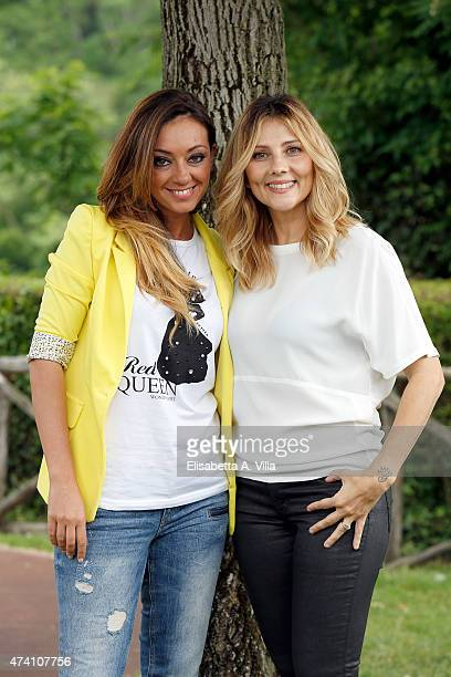 Serena Magnanensi and Arianna Ciampoli attend 'Mezzogiorno Italiano' Tv Show photocall at RAI on May 20 2015 in Rome Italy