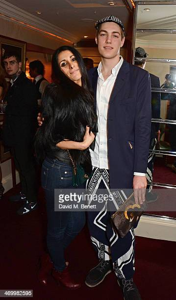 Serena Rees and Calum Knight attend the launch of LOVE special editions at George on February 17 2014 in London England